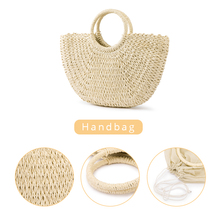 Handmade Straw Handbag Fashion Tote bag