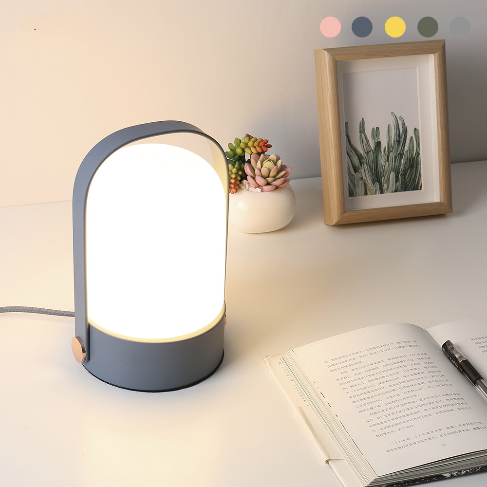 European-style modern simple touch study bedroom bedside lamp living room fashion pastoral cloth table lamp LU8101728