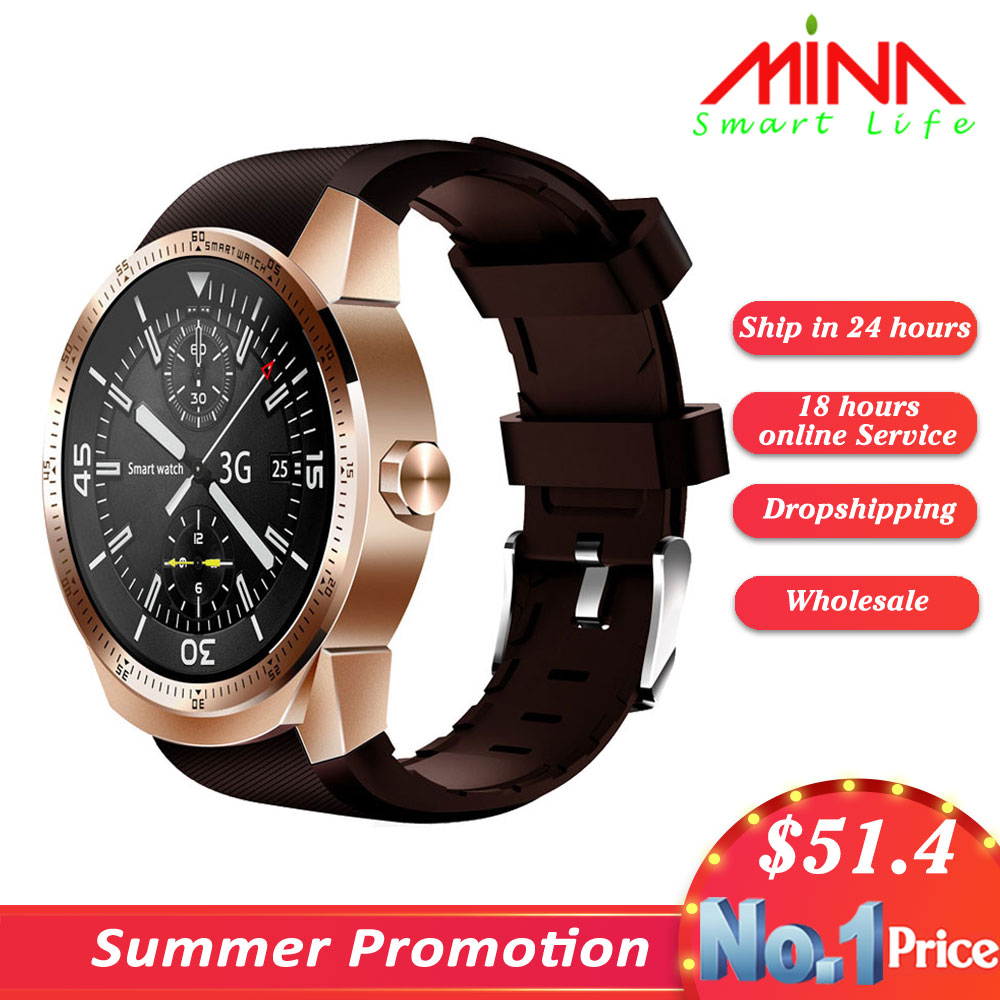 K98H 3G Smart Watch Android 4 1 OS MTK6572A RAM 512MB ROM 4G Support nano SIM
