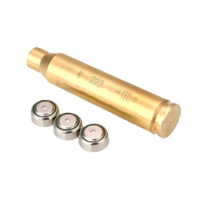 US $3 88 21% OFF 12GA/ 243 7mm 08 / 308 / 223Rem/ 9mm Outdoor Hunting Laser  Bore Sighter Boresighter Caliber Cartridge Sight Laser For Rifle-in Lasers