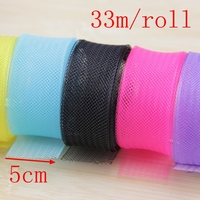 33Meters Roll 5cm Organza Ribbon Roll Gift Box Wrap Ribbon Wedding Home Party Table Runner Decoration