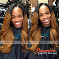Long Wave Ombre Color Synthetic Lace Front Wig With Baby Hair Two Tone Color Blonde Synthetic Hair Wigs For Black Women
