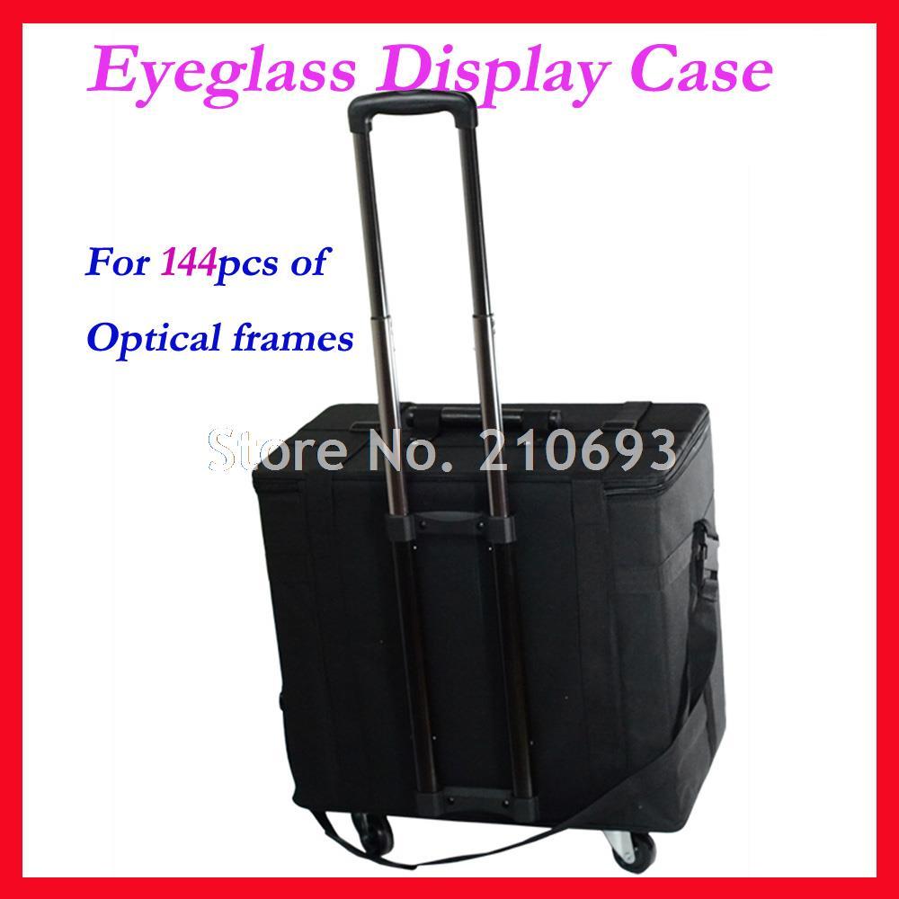 Hold 144pcs Optical Sunglasses Eyewear Eyeglasses Glasses Display case Sample box travel Trolley Case S144