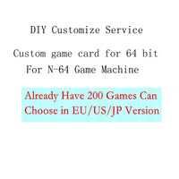 Custom Game Card for N64 Game Console DIY Cartridge for 64 bit console with 8gb Memory Card choose 200 games in EU/US version