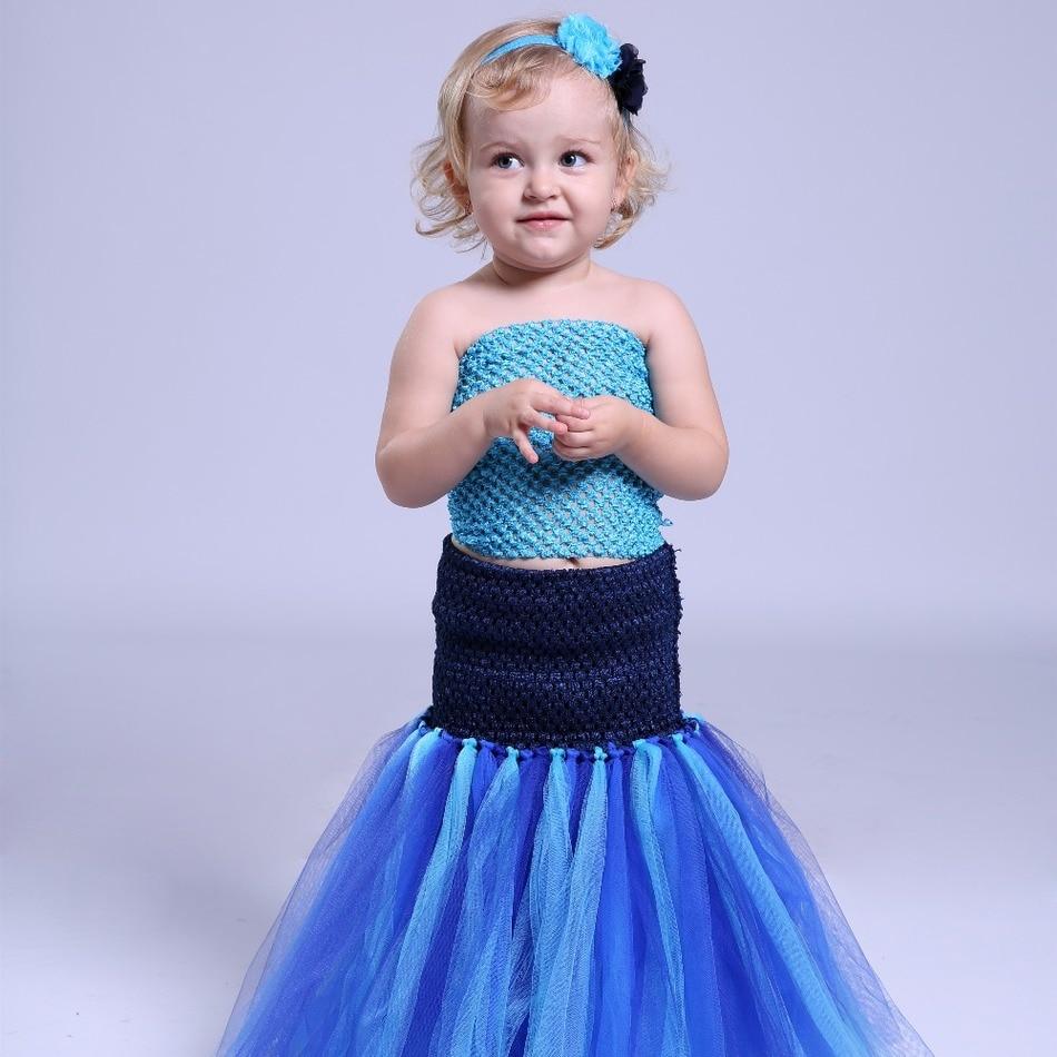 Baby Kids Girl Tutu Dress Mermaid Halloween Cosplay