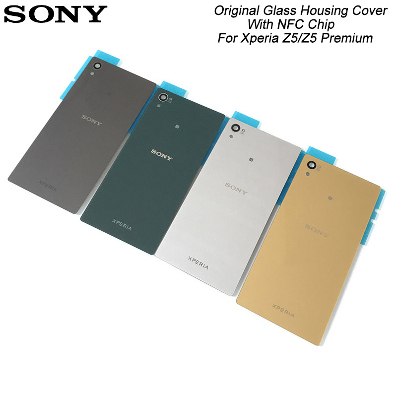 Original Glass Housing Cover With NFC Chip Replacement Back Door Battery Case For SONY XPERIA Z5/Z5 Premium/Z5 Plus(China)