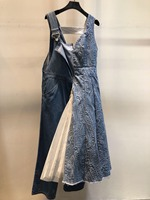 2019 Женская мода Свободный Печатный гофрированный v образный вырез Шелковый женский комбинезон 0408