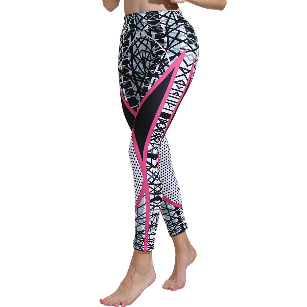 Fashion Womens Print   Leggings   Exercise Fitness Elastic Waist   Legging   Push Up   Leggings   Plus Size Womens Bodycon Legins Jeggings