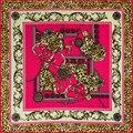 2016 Новейший Бандана Шелковый Шарф Площади Женщины Шарфы Мягкая Мода Leopard Шаль Люксовый Бренд cachecol женщина для шарфы для женщин