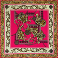 2016 Mais Novo Bandana Lenço De Seda Mulheres Lenços Quadrados Moda Suave Leopard Xale cachecol feminino lenços para as mulheres de Luxo Da Marca