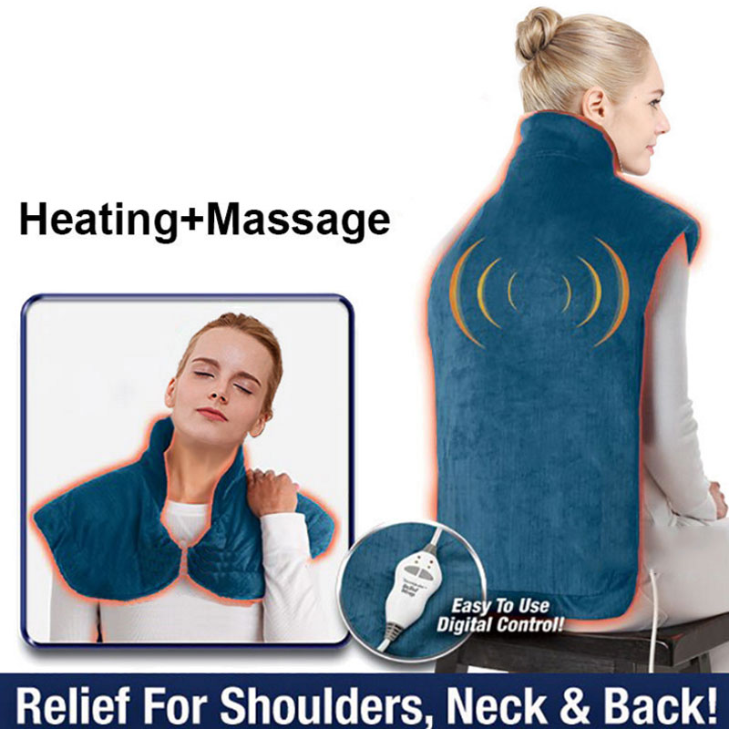 New Flannel Health Relief Wrap Neck Shoulder Back Muscles Pain Relief Pad Extra-Long Massaging Heat Wrap Household MassagerNew Flannel Health Relief Wrap Neck Shoulder Back Muscles Pain Relief Pad Extra-Long Massaging Heat Wrap Household Massager