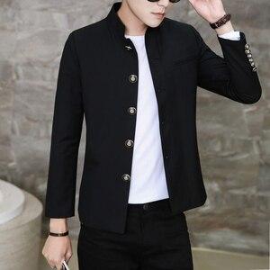 Image 2 - Бесплатная доставка, новинка, японская школьная форма для студентов, мужской Тонкий Блейзер, китайская туника, повседневный пиджак