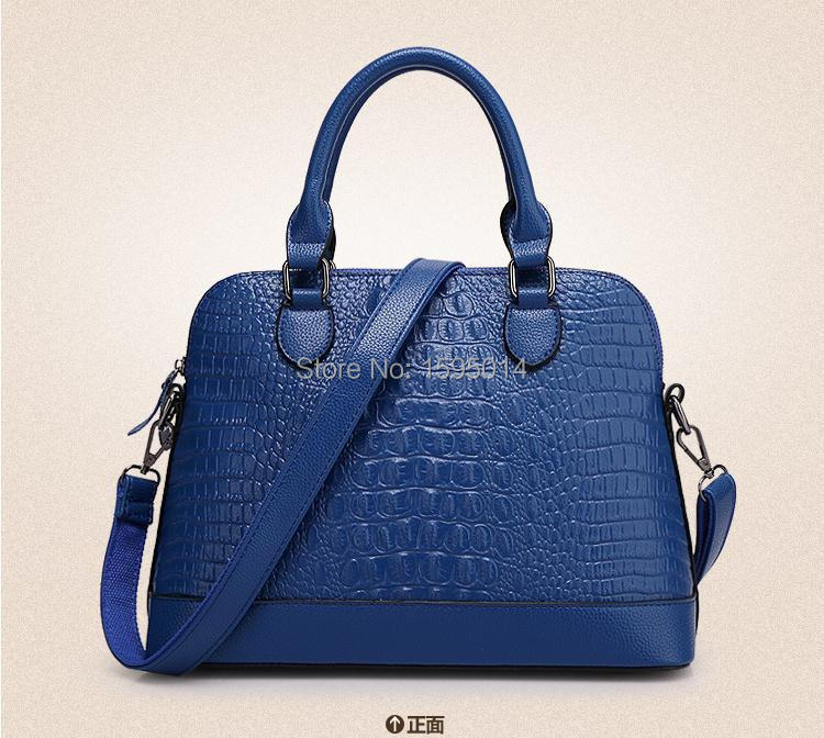 new 2015 fashion tote leather bag alligator pattern women handbag trendy shoulder bag hot women messenger bags bolsas