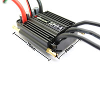 Flycolor 50A 70A 90A 120A 150A Brushless ESC Speed Control Stand 2 6S Lipo BEC 5.5V/5A for RC Boat F21267/71 free shipping