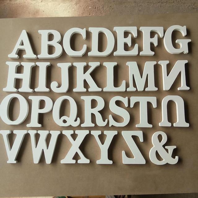 1pcs home decor wooden letter 26 wood english alphabet letters home
