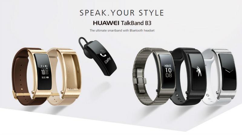 Prix pour En Stock 100% Huawei TalkBand B3 des Écouteurs Bluetooth Intelligent Bracelet de Remise En Forme Portable Sport Pour Mobile Téléphone Dispositif Bracelets