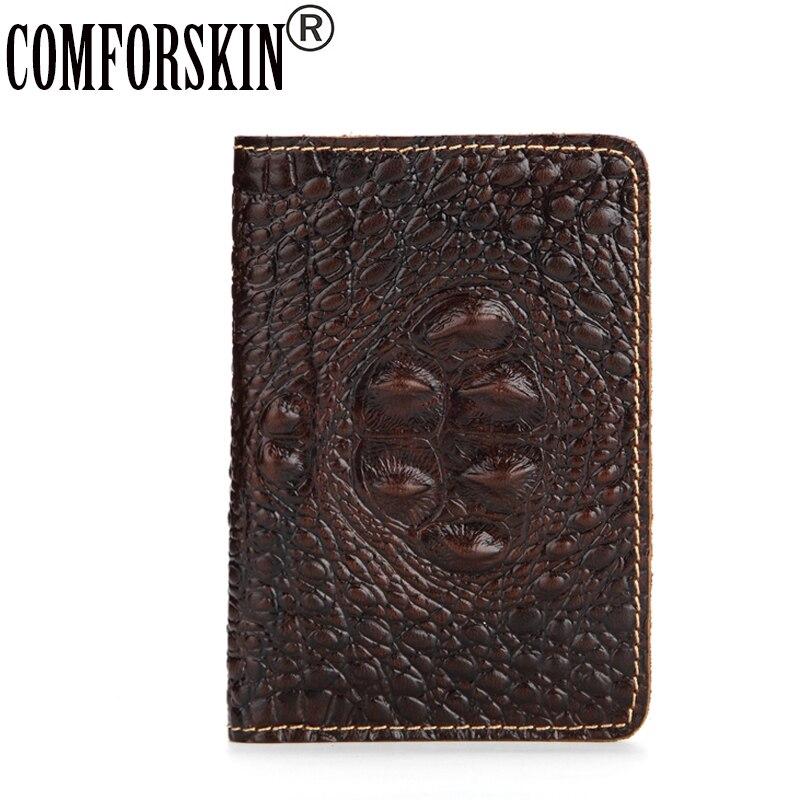 COMFORSKIN Brand Designer Crocodile Pattern Passport Covers 2018 Hot Selling Travel Passport Wallet ID Credit Card Holder Cover