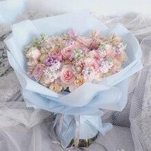 Полупрозрачные цветы лист упаковочной бумаги подарочная упаковка бумага цветочный упаковка букета поставки 20шт