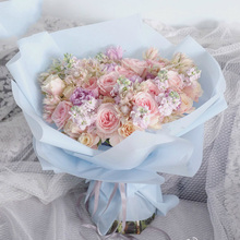 Half Clear Water Resistant Flowers Wrapping Paper Gift Matte Bouquet Packaging Supplies Materials 20pcs