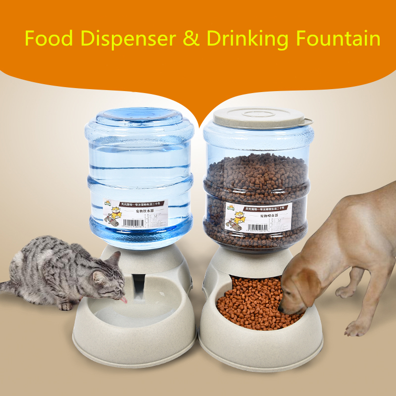 Plastic Drinking Fountain Dog Feeder Cat Water Dispenser Supply Automatic Pet Feeder For Small ...