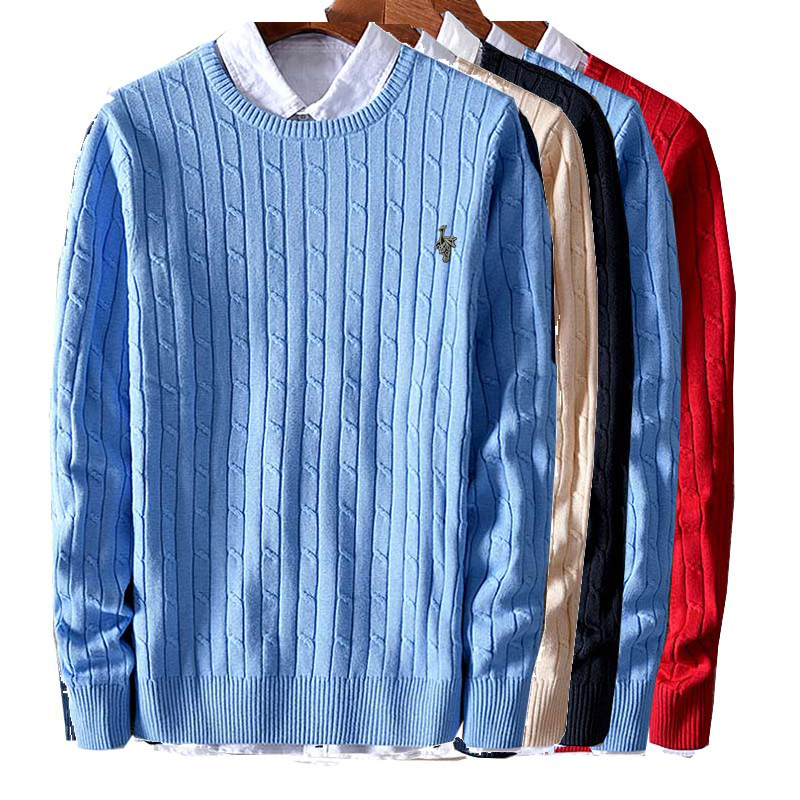 New Autumn Winter Mens Pullover Sweaters Cotton Casual O Neck Sweater Jumpers Thin Male Knitwear Jumpers Top Size M-2XL M18