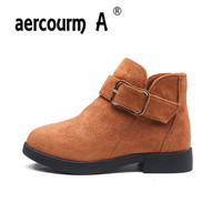 Aercourm A 2017 Girls Boots Fall Winter Children Cotton Boots Snow Fashion Princess Shoes Winter Cute