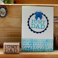 High Quality I Love Dad 5 3cm Carimbos For Wooden Scrapbooking Rubber Stamps Carimbo For Card