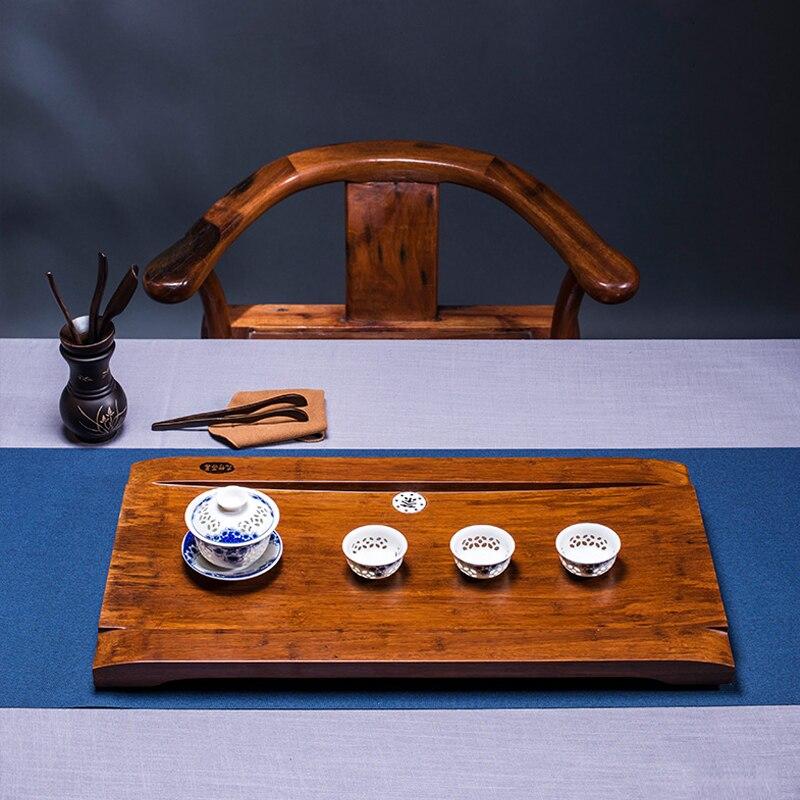 Lourd bambou plateau à thé, ménage bambou vidange table à thé, grand plateau à thé simple Kung Fu thés.