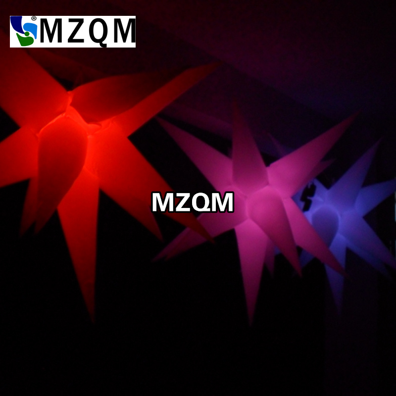 MZQM 2 meters LED lighted inflatable star for decoration inflatable star with color changing LED light wedding decoration inflatable column led lighted inflatable column
