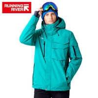 Chaqueta impermeable de marca de Río para hombre conjunto de traje de esquí chaqueta de Snowboard para Hombre Ropa de esquí para hombre # A3268