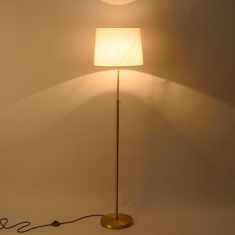Classic Copper Floor Lamp Toolery Modern Toolery Desk light Bedroom Adjustable Direction Standing Lamp simple Home Lighting