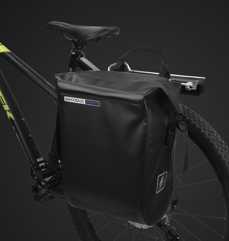 Best Sahoo 141364-SA 20L Full Waterproof Dry Mountain Road Bike Bicycle Cycling Pannier Bag Back Rear Seat Trunk Bag Rack Pack 7