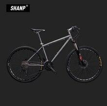 LAUXJACK font b Mountain b font font b Bike b font Titanium Frame 30 Speed Shimano