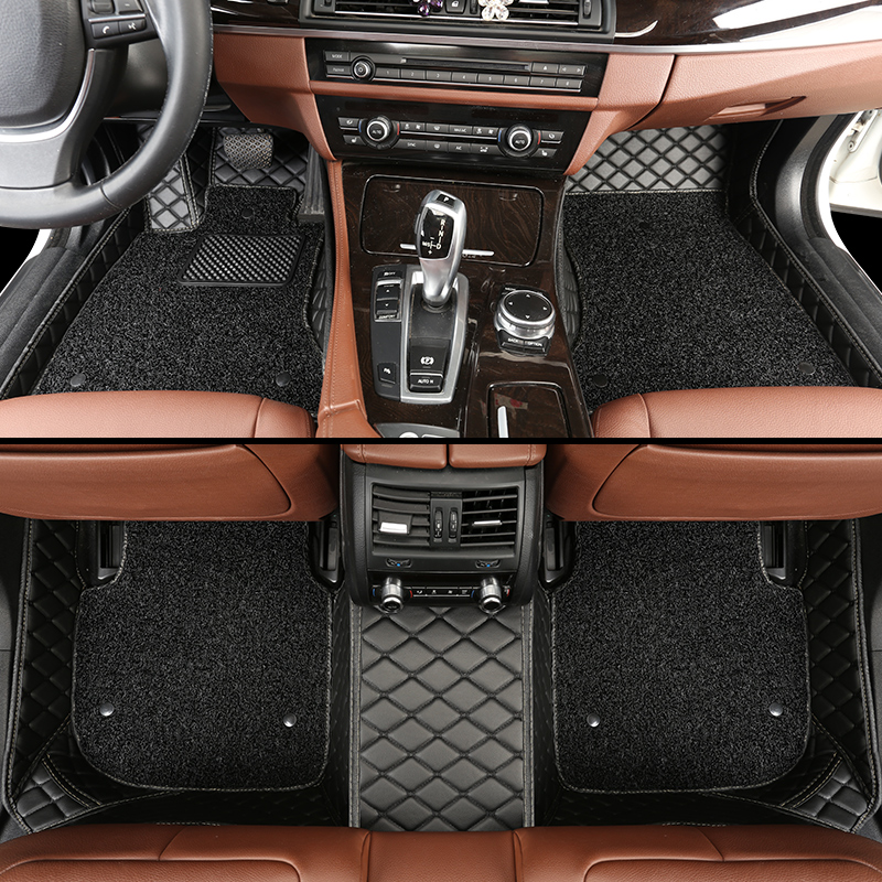 leather car floor mats for BMW all model X3 X1 X4 X5 X6 Z4 525 520