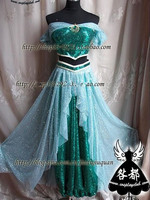 Hot Sale ! New Arrival Aladdin Jasmine Princess Cosplay Costume for Adult Custom made costume