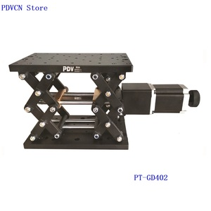 Image 4 - PT GD402 zmotoryzowany podnośnik laboratoryjny, podnoszenie elektryczne platformy, winda, optyczny przesuwny podnośnik, liniowa oś przesuwna 110mm