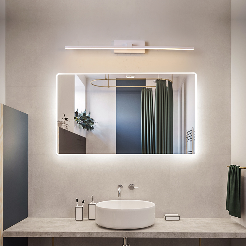 Us 33 28 48 Off Led Mirror Light Wall Lamps For Bathroom White Waterproof Black Lamp Flat Indoor Modern Makeup In