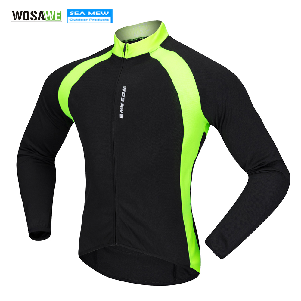 WOSAWE Outdoor Sports Cycling Jersey Summer Autumn Bike Clothing Bicycle Long Sleeves MTB Shirts Cycling Wear Quick Dry Jersey