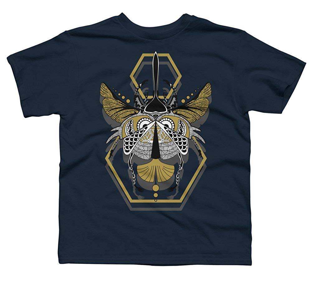 Design By Humans Hercules Beetle Boy's Youth Graphic T Shirt Summer O-Neck Tops Cool Casual Sleeves Cotton T-Shirt Fashion
