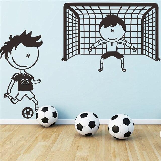 Jugador de fútbol portero pared calcomanías para niños habitación ...