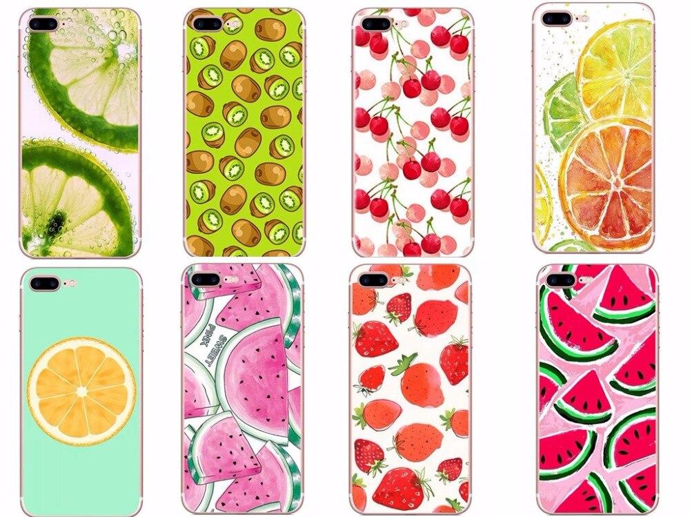 AIPUWEI Pretty Fruit Lemon Watermelon Pattern <font><b>Cell</b></font> <font><b>Phone</b></font> Case For iPhone 6 6S <font><b>7</b></font> Plus 5 5S SE Transparent Silicone <font><b>Phone</b></font> cover