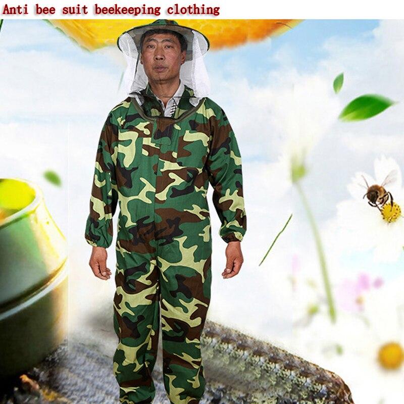 Nuevo cuerpo ropa de apicultura velo Anti abeja traje ropa de apicultura ropa protectora diaria con abejas, producto de abeja al por mayor