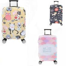 Wholikes Fashion Travel on Road Luggage Cover Protective Suitcase cover Portable Elasticity Stretch Protect Suitcase Cover