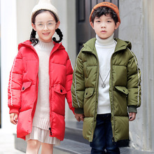 Kids Down Coat 2018 Children's Winter Jackets Duck Down Padded Girls Clothing Big Boys Warm Winter Down Coat Thickening Parkas