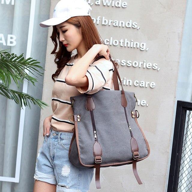 SAICHENG 2017 Fashion Big Women Canvas Bag Ladies Shoulder Bags Handbags Women Famous Brands Large Captain Casual Tote Bags Sac