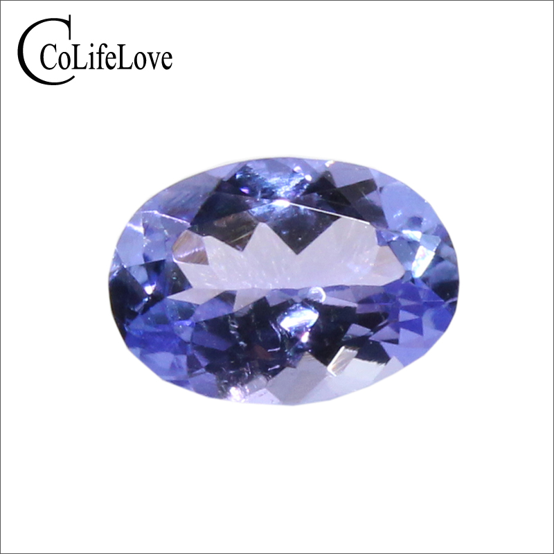 0 7 ct natural tanzanite loose gemstone for ring or pendant 5mm 7mm VS grade oval