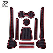 ZD 9 stks Interieur Auto cup mat deur poort slot pad stickers voor VW Volkswagen Polo Accessoires 2011 2012 2013 2014 2015 2016(China)