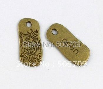 240 шт состаренная бронза цветочный открытый тег Шарм A5239B