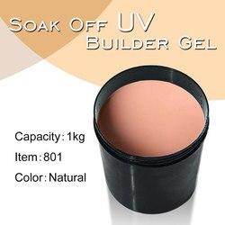 #801 CANNI 1 кг сильный строительный гель для наращивания французский белый 25 цветов замочить от УФ прозрачный строительный гель