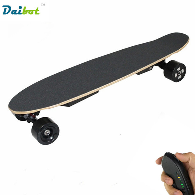 Remote Control Skateboard >> Us 379 99 26 Off 2017 New Dual Motor Remote Control Electric Skateboard 600w Hoverboard Longboard Samsung Battery 40 Km H 3 Speeds Adjustable In